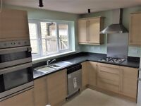 Used kitchen for sale includes units, worktops, smeg appliances (oven, hob and hood only), sink&tap