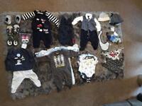 Baby boy clothes bundle 0-3 Months.