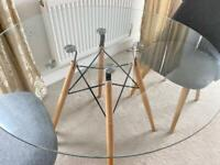 DSW Style Round Glass Table 90cm RRP179