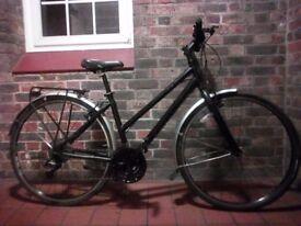 Ladies Cycle Trek WSD 7.3FX bike, 24-speed 17.5in (45.5cm) + rack + mudguards