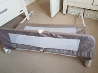 Lindam easy fit bed guard in biege