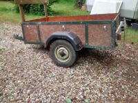 Trailer, Box Trailer, Camping, Garden rubbish to the tip, to tow behind a small car has with lights