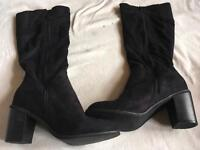 Sole desire wide fit ladies boots suede black size 8 used 2 times £8
