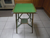Vintage Cane glass Top Occasional Table.