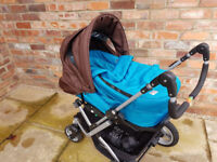 Teutonia Mistral 2 Pram / Pushchair / Buggy Baby Travel system