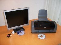 "e-machines 15"" Flat Screen Monitor and Epson C48 Printer"