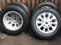 "4 x Genuine 16"" Ford Transit Custom Alloy Wheels With Continental Tyres Brand New"
