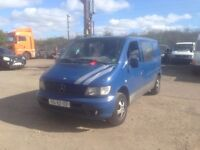 LEFT HAND DRIVE MERCEDES BENZ VITO, RUNS PERFECTLY, GOOD SPACE FOR LOADING,ENGINE AND MECHANICS.CALL