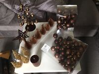 Next brown Christmas decorations -Excellent condition