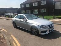 Mercedes c220 amg line premium plus silver