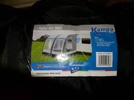 Caravan half awning for