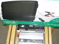 Solar battery charger and 1500 w invertor