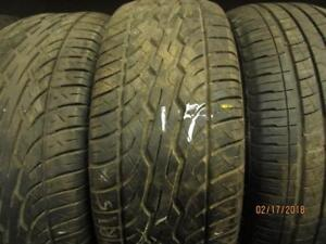 215/60R15 SINGLE ONLY USED DUNLOP SIGNATURE SERIES ALL SEASON TIRE