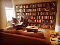BOOKCASES x4 library books storage display Brighton London England industrial rustic wood gplanera