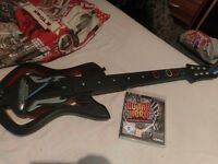 Ps3 guitar hero game and guitar