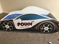 Toddler police car bed