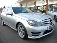 MERCEDES-BENZ C CLASS 2.1 C220 CDI BLUEEFFICIENCY SPORT ED125 5d AUTO 170 BHP (silver) 2011