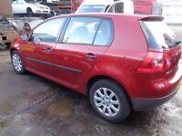 BREAKING VW GOLF MK5 - ALL SPARES AVAILABLE - DOOR? REAR BUMPER? WING? BONNET? SEAT? WINDOW? LOCK?