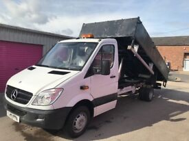 MERCEDES SPRINTER 513CDI LWB TIPPER,61REG, 3500KG, FOR SALE