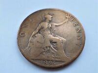 1896 - Queen Victoria - One Penny Veiled Head