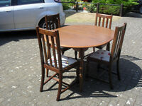 1930's Panelback Chairs (4no) and an Oak Table