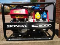 Honda EC2000 2KVA Generator 115/230 Volts