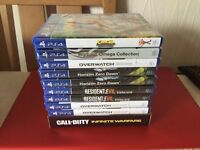 10X PS4 GAMES - HORIZON ZERO DAWN / RESIDENT EVIL BIOHAZARD - BRAND NEW AND SEALED FOR PLAYSTATION 4