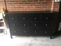 Large double chest of drawers