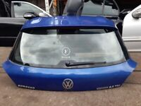 2013 VW Scirrocco 2dr BLUE Rear Tailgate, Bootlid Complete