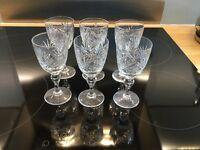 Set of 6 pretty sherry glasses