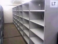 white industrial shelving 2.8m high ( pallet racking /storage).