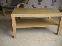 Lack coffee tables, Beech and oak veneer