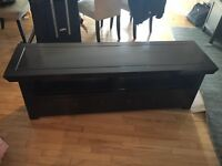 Dark wood TV stand for sale - excellent condition
