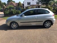 2005 SEAT IBIZA SPORT 3 DOOR HATCHBACK, 1400CC, IDEAL 1ST CAR. LONG MOT CHEAP TAX.