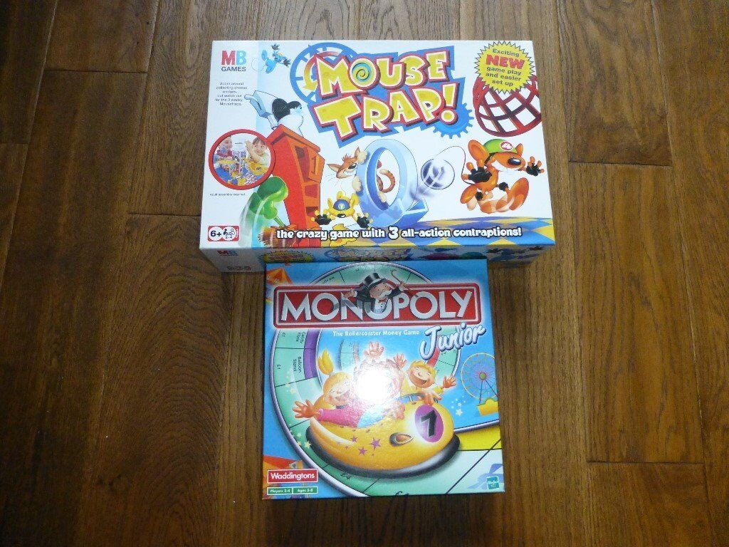 2 x excellent condition games - Mouse trap and Monopoly Junior