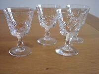 LEAD CRYSTAL LIQUER / SHERRY GLASSES (5)