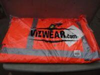 Hi-Vis padded Orange Parka Coat - Size 4XL