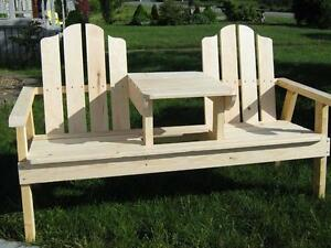 Double Bench w/ Table