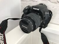 Pentax K-500 camera with kit lens Used but no visible marks etc