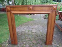 Light Oak Fire Surround from 1950's. Very good condition . Size 135x120 cm