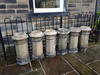 Six matching chimney pots in excellent condition - no chips or cracks