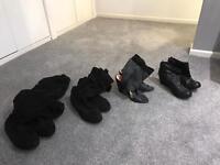 Ladies black boots (bundle)