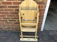 Highchair beech colour folds for storage