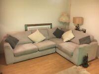 Large corner double sofa bed