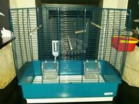 Bird cage ideal for budgie size bird aqua colour as new complete