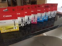 8 brand new canon ink cartridges
