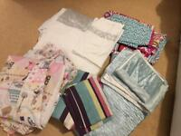 Bundle of 5 Sets Of Double Bedding (& curtains for 1 set)