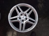 4 x Mercedes Benz AMG 18 inch original alloy wheels (front and rear).