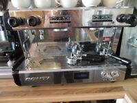 Conti commercial coffee machine, grinder, knock box & hot water boiler