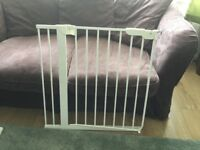 Ikea safety gate in white metal